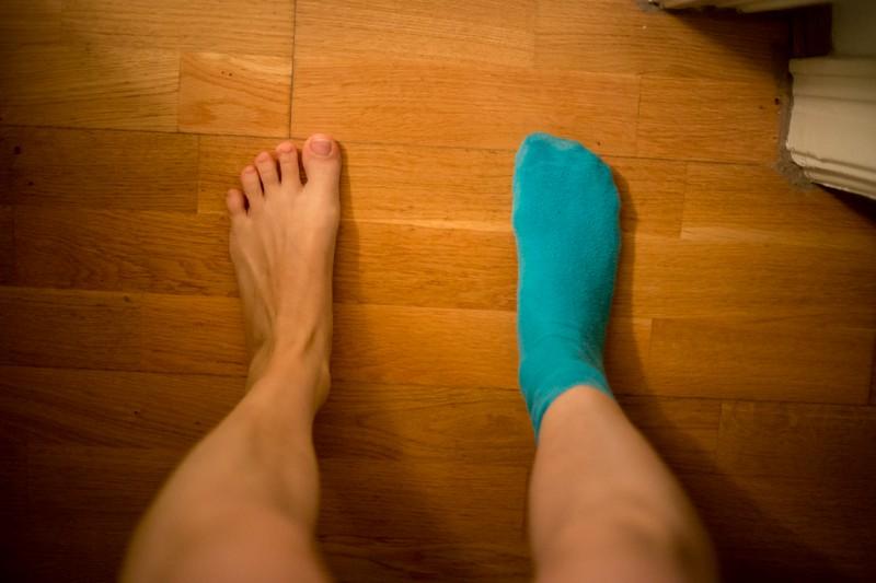 Füße im Wochenende